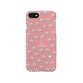 ウサギのウーの生肉モグモグ[namaniku pink] Smartphone cases