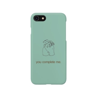 you complete me. (green) Smartphone cases