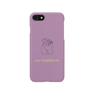 you complete me. (purple) Smartphone cases