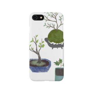 ボタニカル 鉢植えと苔玉 Smartphone cases