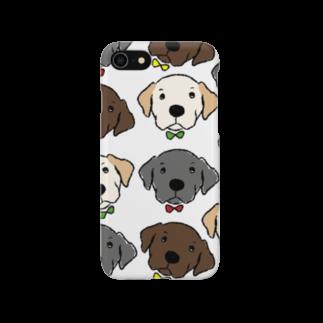Dog Drawer Drawn by Dogの3色ラブラドール Smartphone cases