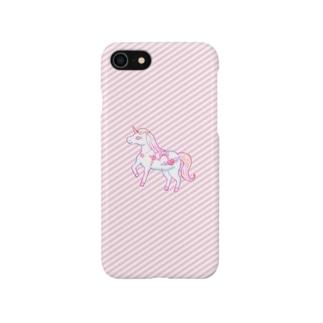 シンプルファンシーユニコーンケース Smartphone cases
