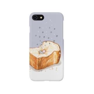 パンでだらける 〜深夜〜 スマートフォンケース