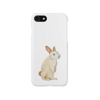 立ちウサギ Smartphone cases