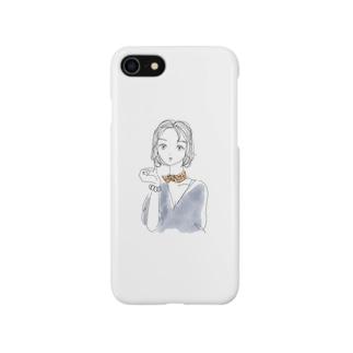 不機嫌な眼差しgirl Smartphone cases