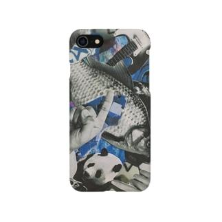 青いにぎやか Smartphone cases