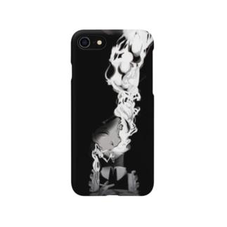 タバコ吸ってるメイドさん Smartphone cases