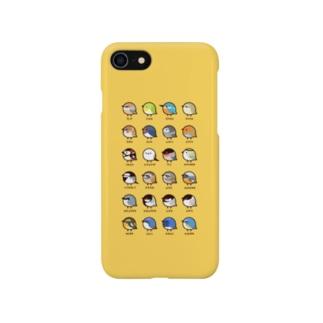 (イエロー)日本の小鳥 Smartphone cases