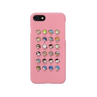 (ピンク)日本の小鳥 Smartphone cases