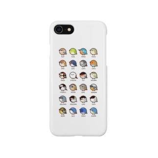 (ホワイト)日本の小鳥 Smartphone cases