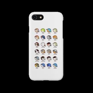 高橋のぞむの(ホワイト)日本の小鳥 スマートフォンケース