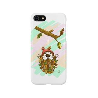 みのむし、ぽんちゃん Smartphone cases