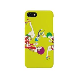 ワイングラスを持つ女 Smartphone cases