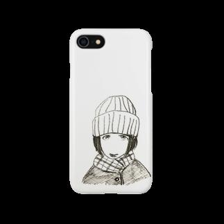 ててのお店のニット帽のおんなのこ Smartphone cases