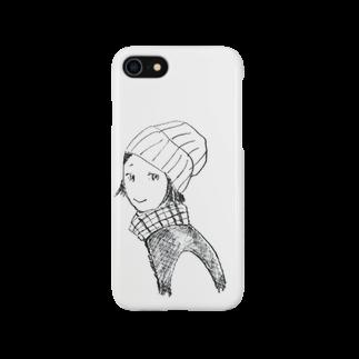 ててのお店のニット帽のおんなのこ(困り眉) Smartphone cases