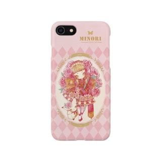 牡丹の妖精スマートフォンケース Smartphone cases