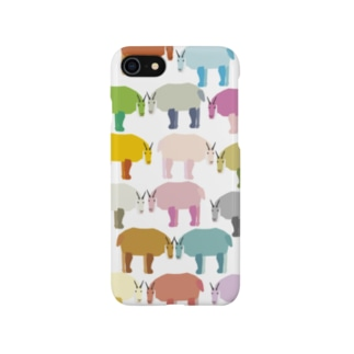 baanaruのやぎの集団 Smartphone cases