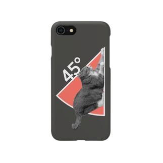 ネコの45°(ダークカラー) Smartphone cases