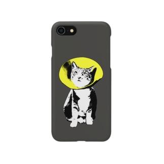 フラワーキャット(イエロー) Smartphone cases