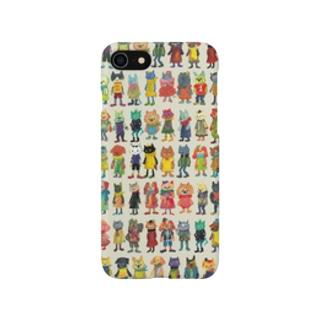ねこびとわんこびと集合01 Smartphone cases