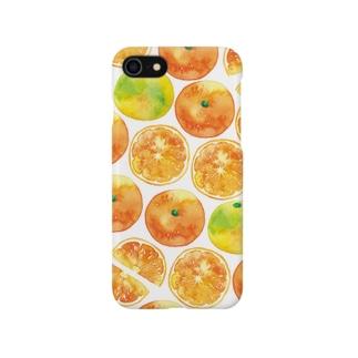 みかんiPhoneケース Smartphone cases