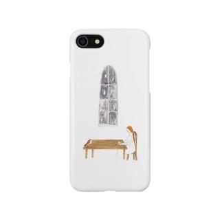 ジョウビタキのお茶会 Smartphone cases