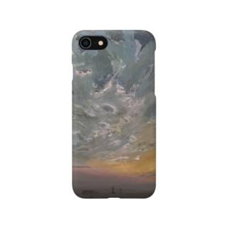 夕空グラデーション Smartphone cases