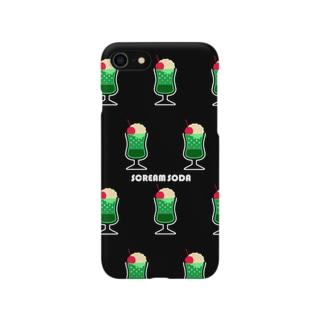 SCREAM SODA 総柄 Smartphone cases