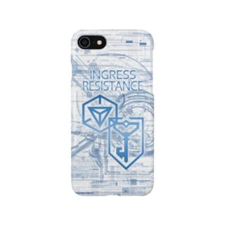 INGRESS RESISTANCE W-Blue Smartphone cases