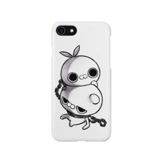 クレイジー闇うさぎVSブチギレ毒舌くま(首輪) Smartphone cases