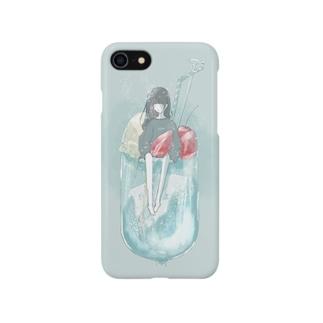 クリームソーダと少女 Smartphone cases