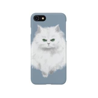 こゆき(おこ)くすみブルー Smartphone cases