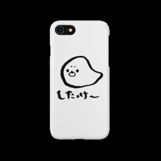 道産子あーかのぼんやりショップの道産子あざらしくん Smartphone cases
