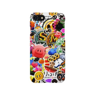 くりぷ豚ステッカー風 Smartphone cases