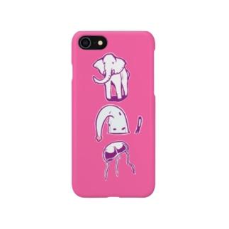象とクラゲとゾウクラゲ iPhone7用 Smartphone cases
