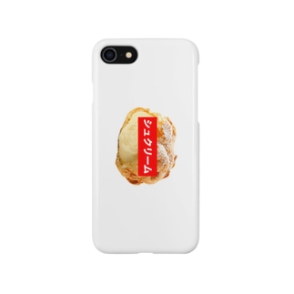 シュクリームケース(WHITE) Smartphone cases