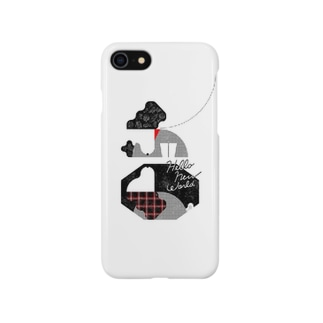 iPhoneケース「映る犬」 Smartphone cases