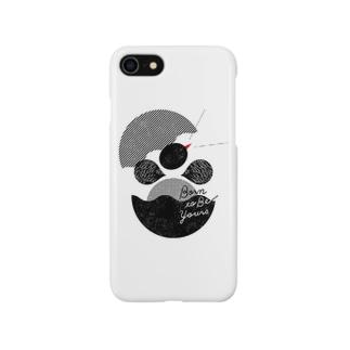 iPhoneケース「鳴く雛」 Smartphone cases