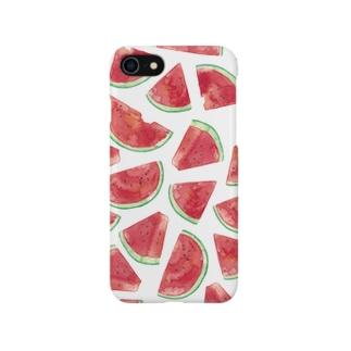 スイカ柄iPhoneケース Smartphone cases