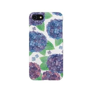 紫陽花iPhoneケース Smartphone cases