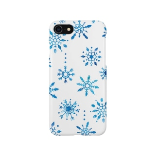 雪の結晶iPhoneケース Smartphone cases