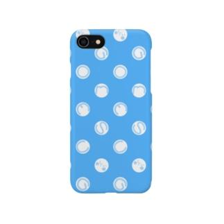 ドットとゴメス(ブルー) Smartphone cases