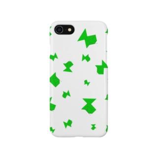 折り紙 みどり魚 影有り Smartphone cases