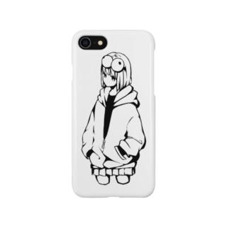 目玉の女の子 Smartphone cases