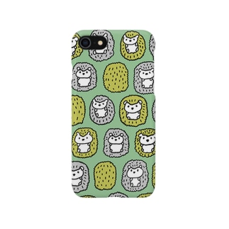 ハリネズミさん(緑) Smartphone cases