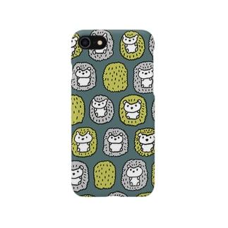 ハリネズミさん(深緑) Smartphone cases
