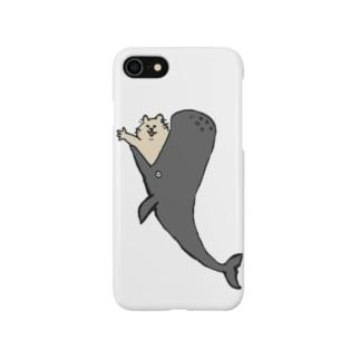 鯨からこんにちは猫 Smartphone cases