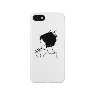 ねぐせの女の子 Smartphone cases