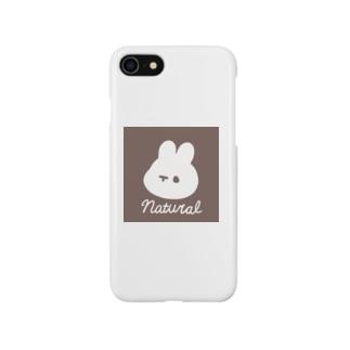 くぅもんせのナチュラルうさぎ Smartphone cases