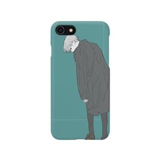 斜め左くん Smartphone cases